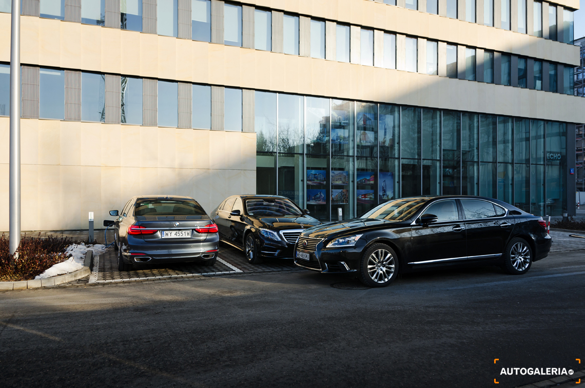 BMW 740Le xDrive iPerformance vs Lexus LS600h L Superior vs Mercedes S500e L | fot. Dominik Kopyciński